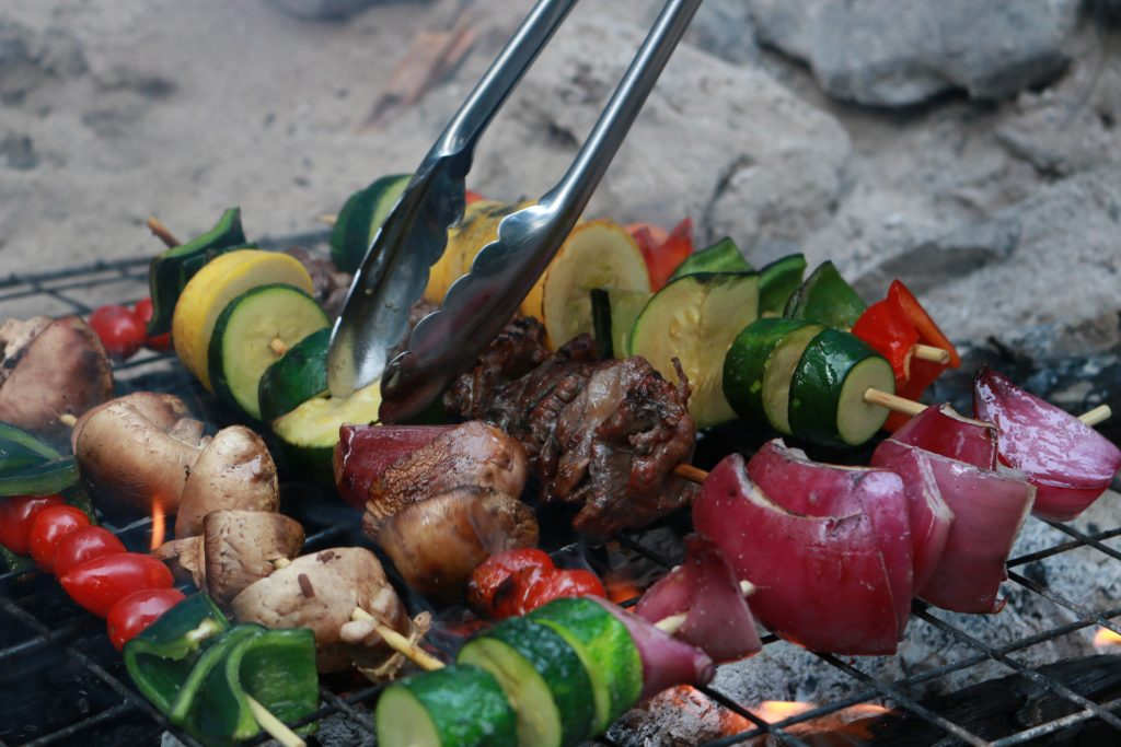 Kebabs Over the Campfire