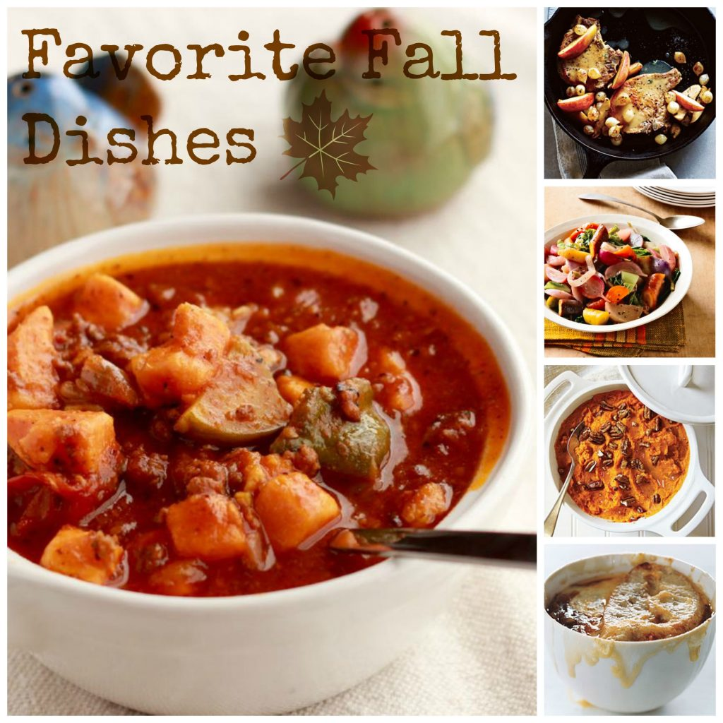 favorite fall dishes collage