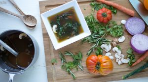 Bone Broth and Mushroom Soup