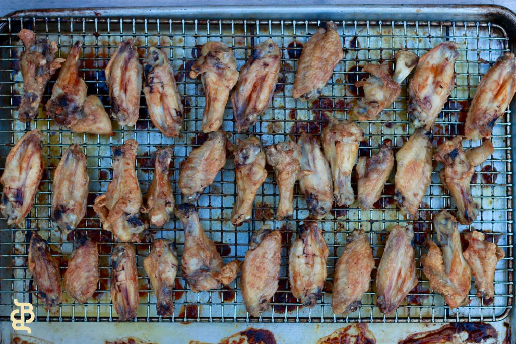 Apricot & Thyme Glazed Chicken Wings
