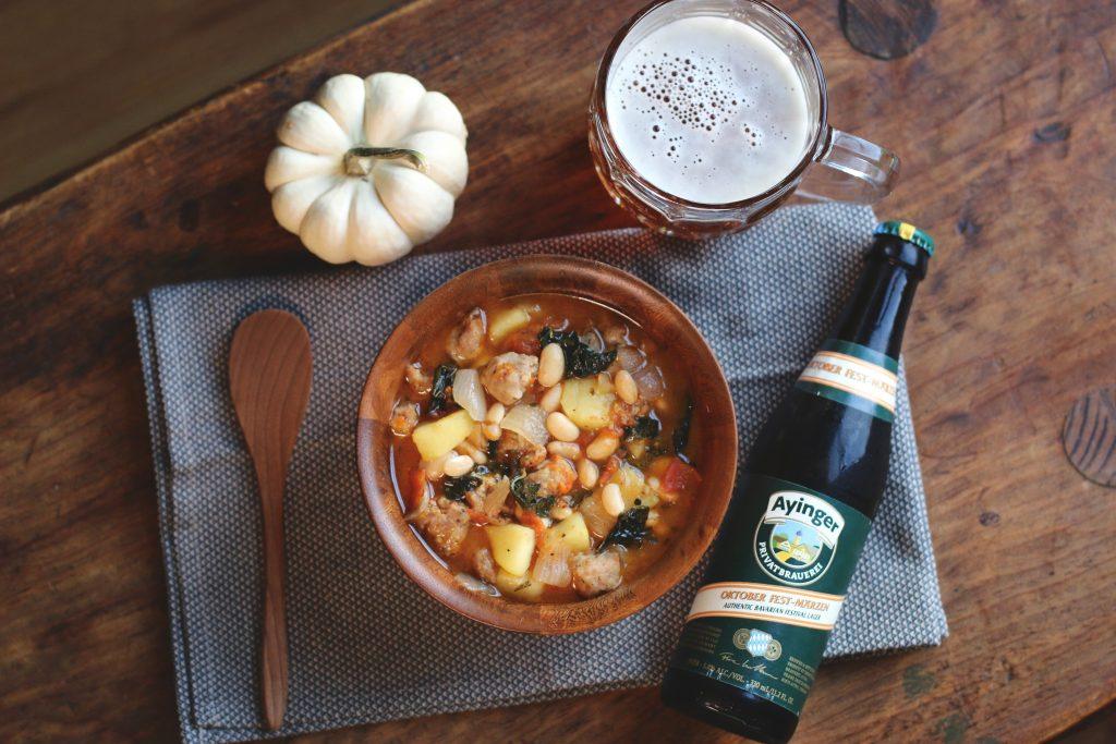 Bratwurst, Kale & Apple Stew