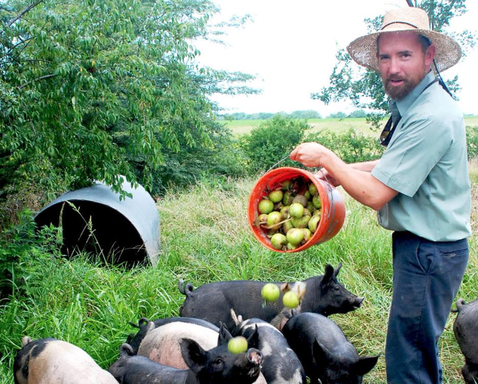 Farmer John of Singing Prairie Farm, a sustainable farm we partner with