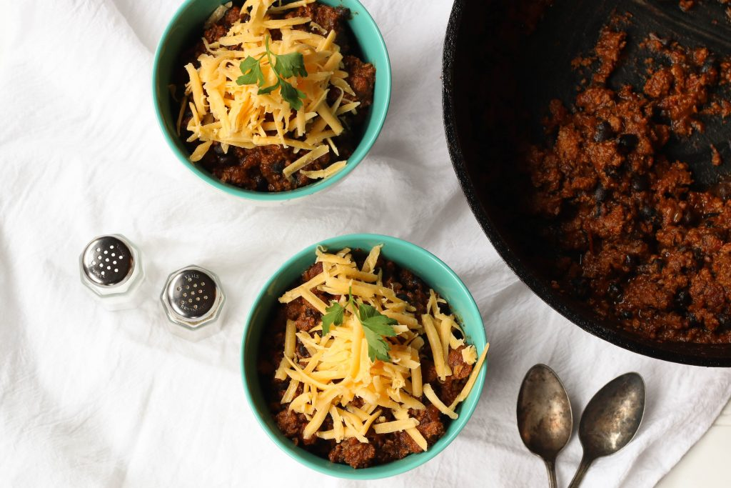 bone broth black bean chili