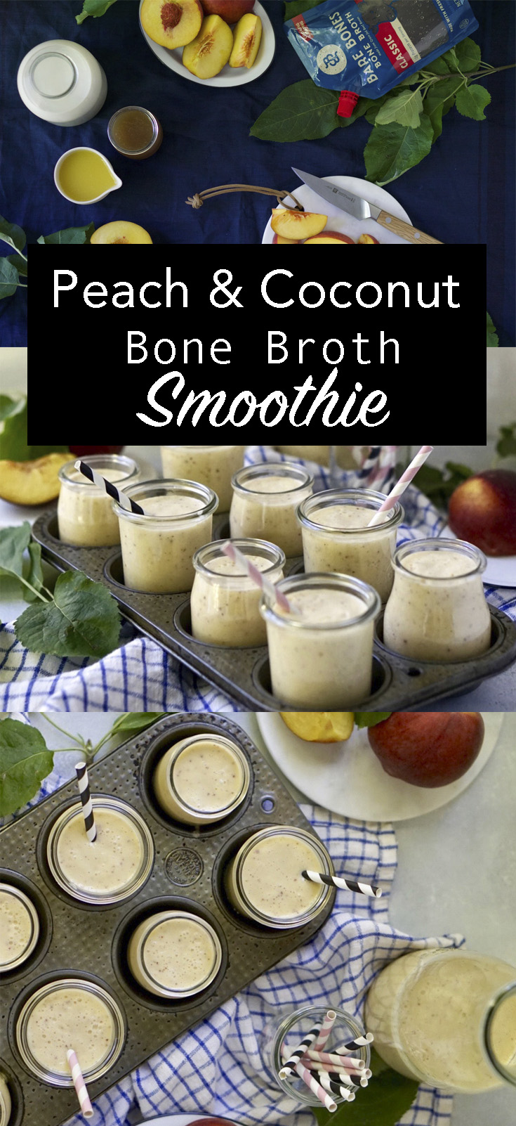 peach smoothie pinterest image