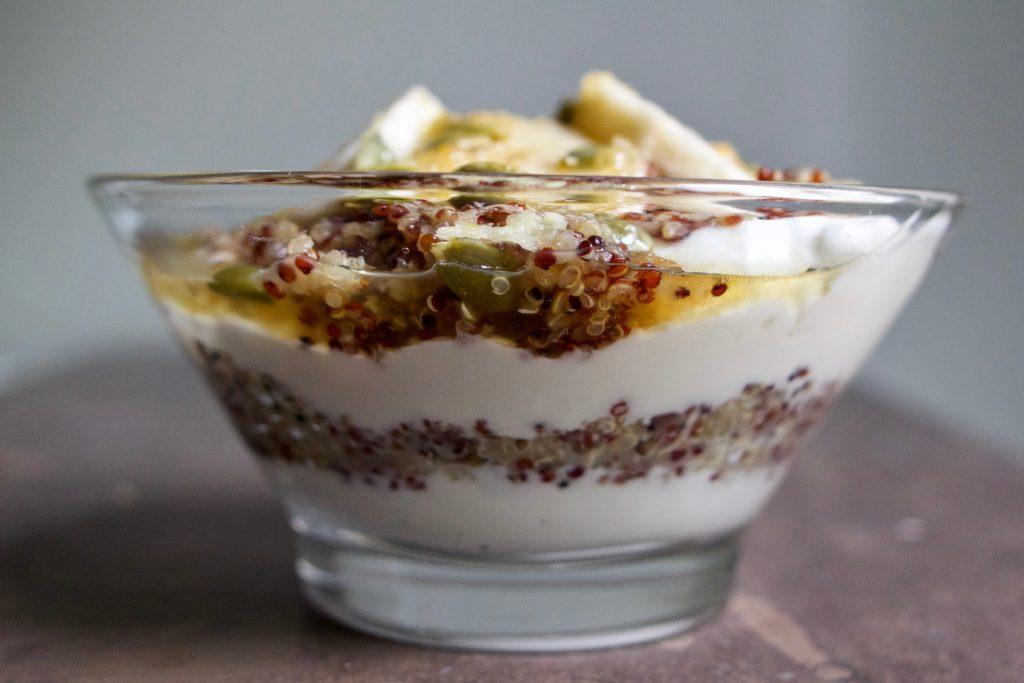 quinoa bone broth parfait