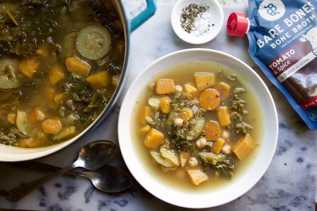 bone broth butternut squash & veggie soup