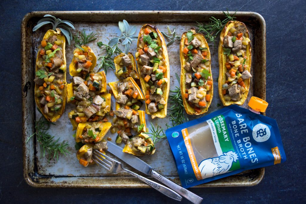 bone broth collagen stuffed squash