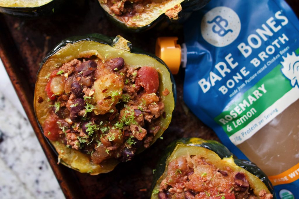 turkey chili stuffed squash